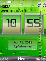 Nature Flip Clock theme screenshot