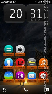 Capture d'écran Camp Fire 01 thème