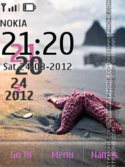 Sea Star Clock theme screenshot