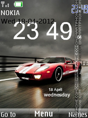 Ford gt clock tema screenshot
