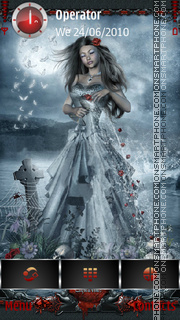 Ghotic Zodiac: Aquarius tema screenshot