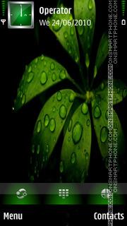 Скриншот темы Black Green