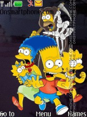 The Simpsons theme screenshot