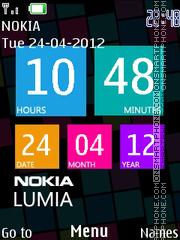 Nokia Lumia theme screenshot
