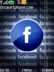 Facebook And Social Network Icon es el tema de pantalla