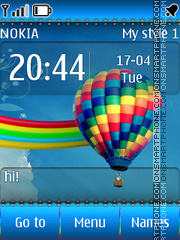 Ballons tema screenshot