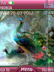 Majestic peacock tema screenshot