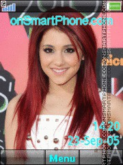 Ariana Grande tema screenshot