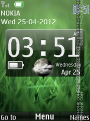 Green Desire Clock tema screenshot