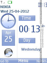 Скриншот темы Facebook clock theme