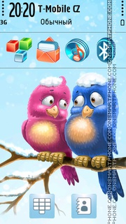 Winter Birds 01 theme screenshot