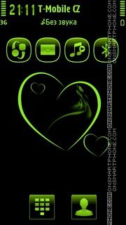 Green Heart 04 tema screenshot