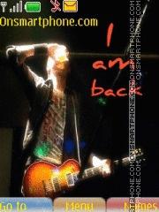 I am back es el tema de pantalla