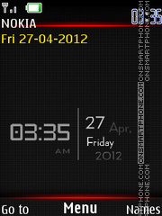 Hd Graphics Clock tema screenshot