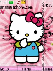 Hello Kitty With Ringtone theme screenshot