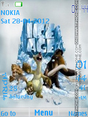 Ice Age SWF theme screenshot
