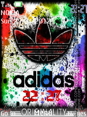Adidas Clock tema screenshot