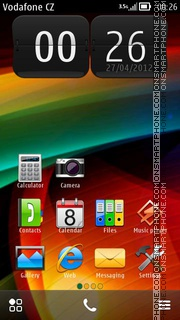 Coloured Pattern theme screenshot