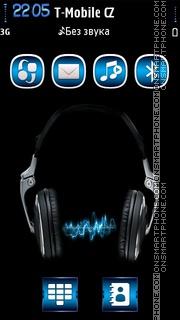 Capture d'écran Music Blue thème