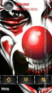 Evil Clown theme screenshot