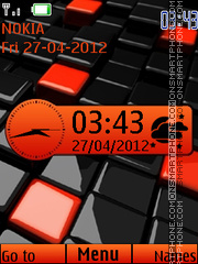 Abstract Nice Clock theme screenshot