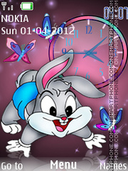 Cartoon Clock 02 theme screenshot
