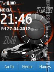 Car Dual Clock 01 theme screenshot