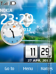 Nature Dual Clock 04 theme screenshot