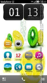 Скриншот темы Lemons Full Symbian Belle Icons