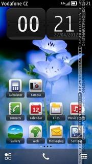 Blue Flower 09 Theme-Screenshot