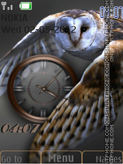 Owl Clock theme screenshot