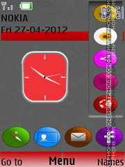 New Style Clock 04 theme screenshot