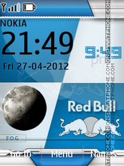 Redbull And Clock es el tema de pantalla