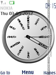 Artde clock es el tema de pantalla