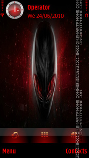 Alienware Red theme screenshot
