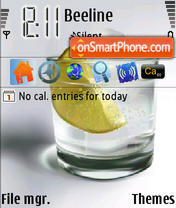 Lime In Glass theme screenshot