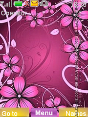 Flower Fantasy theme screenshot