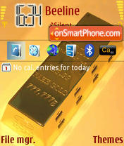 Gold 01 tema screenshot