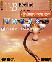 Giraffe QVGA default theme screenshot