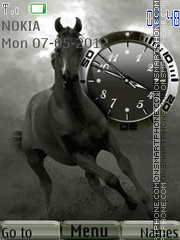 Скриншот темы Horse Clock