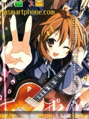 Yui Hirasawa theme screenshot