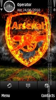 Arsenal fire tema screenshot