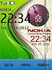 Nokia Clock 14 theme screenshot