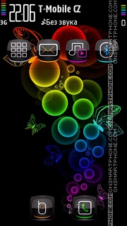 Neon Bubble tema screenshot