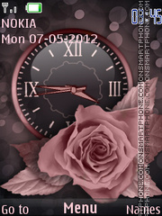 Rose Clock theme screenshot