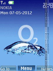 Water in Mobile es el tema de pantalla