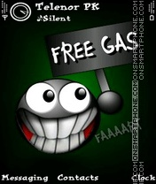 Funny Gas tema screenshot