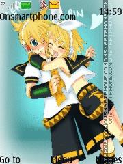 Скриншот темы Rin X Len Kagamine