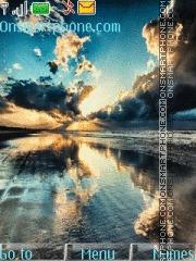 Скриншот темы 3d Blue Sunset