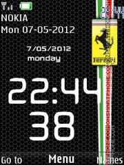 Ferrari Clock 03 Theme-Screenshot